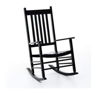 Outsunny Black Multipurpose Wooden Rocking Chair