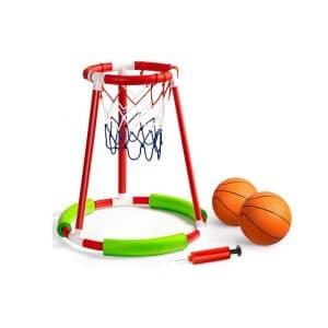 ROPODA Pool Basketball Hoop with Two Balls and Pump