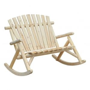 Outsunny Adirondack Wooden Rocking Chair