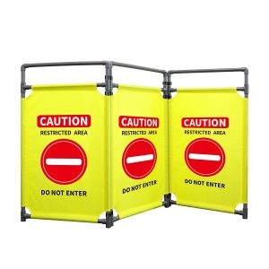 RELIANCER 3 Panels 5.8Ft Foldable Safety Barricade