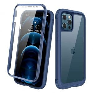 Diaclara iPhone 12 Pro Max Case Full Body with Built-In Screen Protector