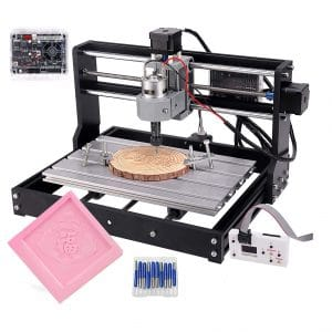 Cenoz Upgrade CNC 3018 DIY CNC Machine Engraving Machine with 300 mm x 180 mm x 45mm Working Area