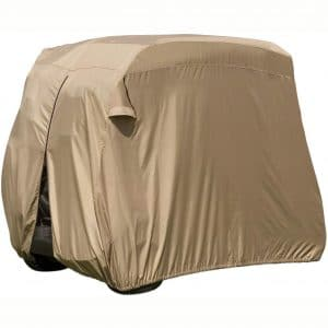 Classic Accessories Fairway Golf Cart Easy-On Cover, Tan, Fits Club Car Precedent, Yamaha Drive & EZ Go