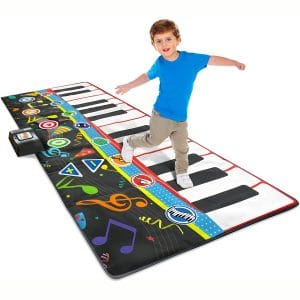 """Little Performer Jumbo Floor Piano Mat for Kids - 70"""" Inches Wide, 24 Keys - 4 Play Modes, 8 Instrument Sounds"""