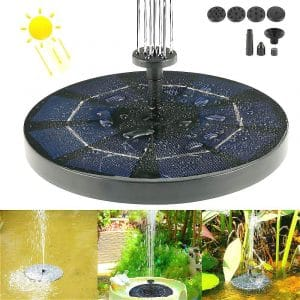 MWPO Garden 3W Solar Floating Fountain Pump for Small Pond, Garden, Fish Tank Pool, and Lawn