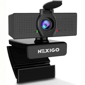 1080P Web Camera, HD Webcam with Microphone & Privacy Cover, 2020 NexiGo N60 USB Computer Camera, 110-degree Wide Angle, Plug and Play