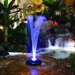 Alpine Corporation 530 gph FTC102 550-GPH Pump Floating Spray Fountain with 48-LED Light