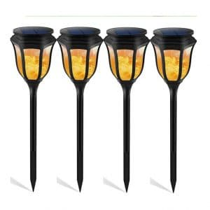 OOFAY LIGHT 4-Pack LED Flickering Flames Solars