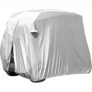 homeasy Golf Cart Covers 4 Passenger, 210D 4 Seat Club Car Cover Waterproof Sunproof Dustproof for EZ GO Club Car Yamaha Golf Carts