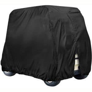 Golf Cart Cover 4 Passenger, Waterproof Golf Cart Cover for EZ GO Club Car Yamaha Golf Carts, Sunproof Dustproof 4 Seat Club Car Cover