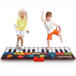 Abco Tech Giant Piano Mat - Jumbo Floor Keyboard with Play, Record, Playback and Demo Modes - New Look - 8 Different Musical Instruments Sound Options