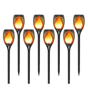 OxyLED 8-Pack Flickering Flames Solars