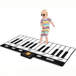 "Play22 Keyboard Playmat 71"" - 24 Keys Piano Play Mat - Piano Mat has Record, Playback, Demo, Play, Adjustable Vol. - Best Keyboard Piano Gift for Boys & Girls"