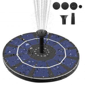 Viajero 2.5W Solar Fountain Pump Portable Free Standing Bird Bath Floating Water Fountain