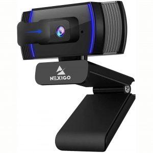 2020 AutoFocus 1080p Webcamara with Stereo Microphone and Privacy Cover, NexiGo FHD USB Web Camera, for Streaming Online Class, Zoom