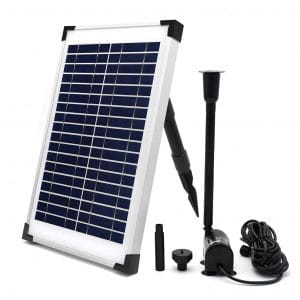 ECO-WORTHY 10 W Solar Fountain Submersible Water Pump Kit for Pool and Garden Decoration