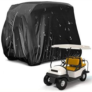 HOMEYA Golf Cart Cover,Waterproof Snowproof Golf Club Cover for 4 Passenger Seat Fit EZ GO,Club Car Precedent,Yamaha Drive Easy-On Golf Carts Cover