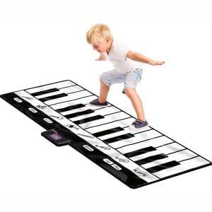 Click N' Play Gigantic Keyboard Play Mat, 24 Keys Piano Mat, 8 Selectable Musical Instruments + Play -Record -Playback -Demo