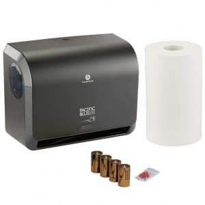 Georgia-Pacific Blue Ultra Mini Paper Towel Dispenser Starter Kit by GP PRO, 54519, 1 Dispenser, 54518 and 1 Paper Towel Roll