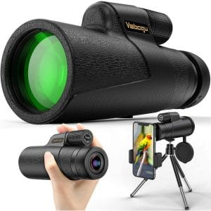 Monocular Telescope, 12x50 High Power HD Monocular for Bird Watching Adults with Smartphone Holder & Tripod BAK4 Prism for Wildlife Hunting Camping Travelling Wildlife