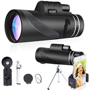 Monocular Telescope with Smartphone Holder & Tripod 12X50 High Definition High Power Zoom BAK4 Prism & FMC HD Waterproof monocular Binoculars