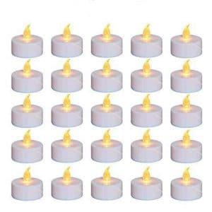 Nancia 100 pcs Tea Lights Flameless Candles LED Tea Lights for Birthday, Wedding, Party