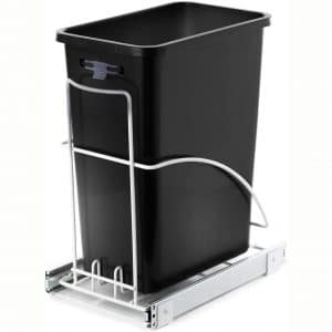 Home Zone Living 7.6 Gallon Kitchen Trash Can - Pull Out Under Cabinet Trash Bin, 29 Liter