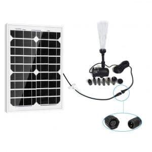 PowerEZ 20 Watt Solar Water Pump Kit for Hydroponics Waterfall Aquaculture and Aquarium