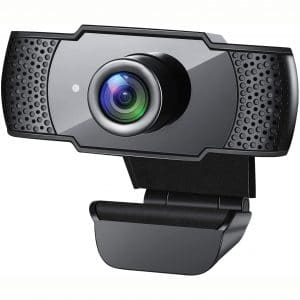 Webcam with Microphone, 1080P HD Streaming USB Computer Webcam [Plug and Play] [30fps] for PC Video Conferencing:Calling:Gaming, Laptop:Desktop Mac