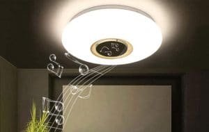 image feature Ceiling Light With Bluetooth Speakers