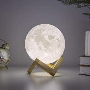 BRIGHTWORLD 3D Printed Moon Lamp- Cool White