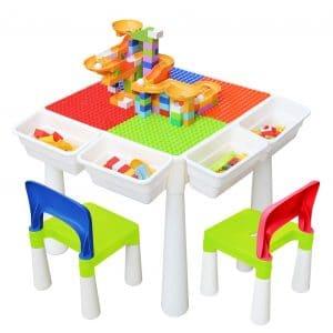 GLAF Kids 4-in-1 Multi Activity Build Table