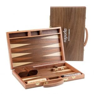 ROPODA Sapele 15 Inches Wood Backgammon Board Portable Game Sets