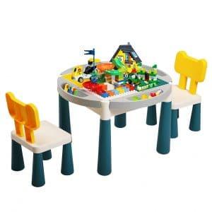 Sandinrayli 6-in-1 Kid Activity Construction Play Table Set