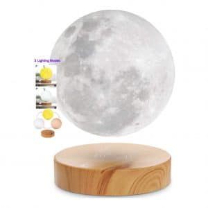 VGAzer Levitating Floating and Spinning Moon Lamp with 3 Colors Modes