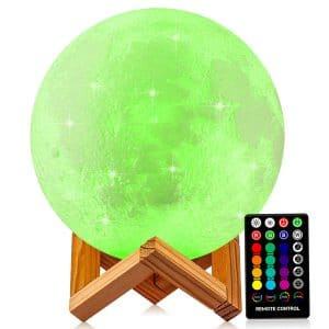 DTOETKD Large 9.6-inch Moon Lamp with Stand