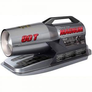 ProCom Heating MAGNUM Kerosene Forced Air Heater-80,000, Multifuel, 80,000 BTU, Black