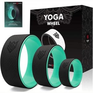 Seven Sparta Yoga Back Wheel Set 3 Pack Yoga Back Roller for Stretching, Back Pain, Backbends and Bodyweight Exercices, 13Inch, 10.5Inch