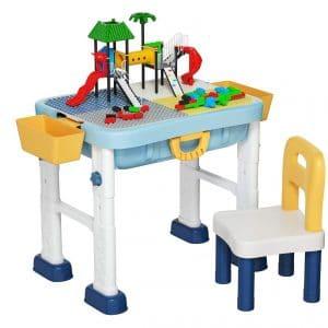 Costzon 6 In 1 Kids Construction Table Set