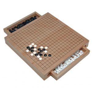 WE Games Pull Out Drawers Wooden GO Board Game Sets