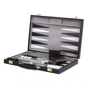 Wood Expressions WE Game 14.75 inches Black Backgammon Sets