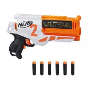 NERF Ultra 2 Motorized Blaster with 6 Ultra Darts and Fast-Back Reloading