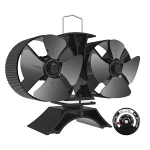 Sonyabecca 8 Blades Stove Fans with Double Motors