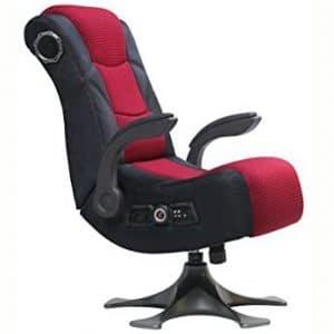 """X Rocker 2.1 Sound Wireless Bluetooth 4 Speaker Video Gaming Chair with Pedestal Base & High Tech Audio 4"""" Subwoofer - Tilt & Swivel Design w: Lumbar Support"""