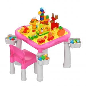 burgkidz Kids 5-in-1 Multi Activity Table Set