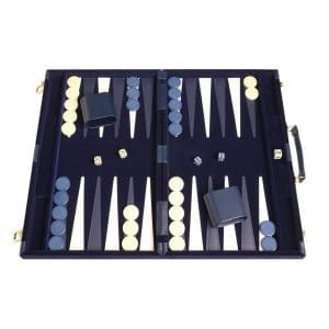 Middleton Games 18 x12 inches Deluxe Backgammon Sets (Blue)