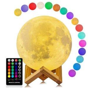 LOGROTATE 16 Colors Moon Lamp for Kids (5.98 Inch)