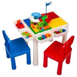 Sandinrayli 7-in-1 Kid Construction Play Table