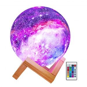 BRIGHTWORLD Kids 16 Colors Moon Lamp