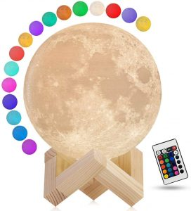 Gahaya 16 Colors Moon Lamp with Wood Stand